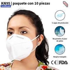 Cubrebocas Kn95 10pz- Mascarilla Protector Facial Tapabocas