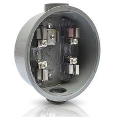 Base para watthorímetro monofásica, 4 terminales de fierro 600 V~