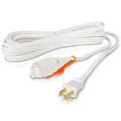 Extensión eléctrica doméstica, Cal. 16, blanca