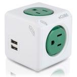 Multicontacto eCUBE con 2 puertos USB