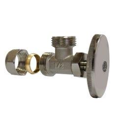 """Válvula de control angular 13mm 1/2"""" compresion x 13mm 1/2"""" HNPS"""
