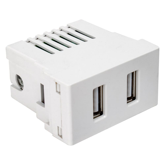 Puerto USB Scudetto Blanco Brillante