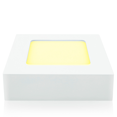 Lámpara LED cuadrada para sobreponer, luz cálida