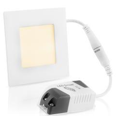 Lámpara LED cuadrada para empotrar, luz cálida