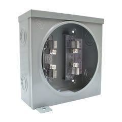 Base cuadrada para watthorímetro monofásica, 4 terminales