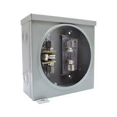 Base cuadrada para watthorímetro bifásica, 5 terminales