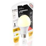 Foco LED A19 luz cálida, en blister