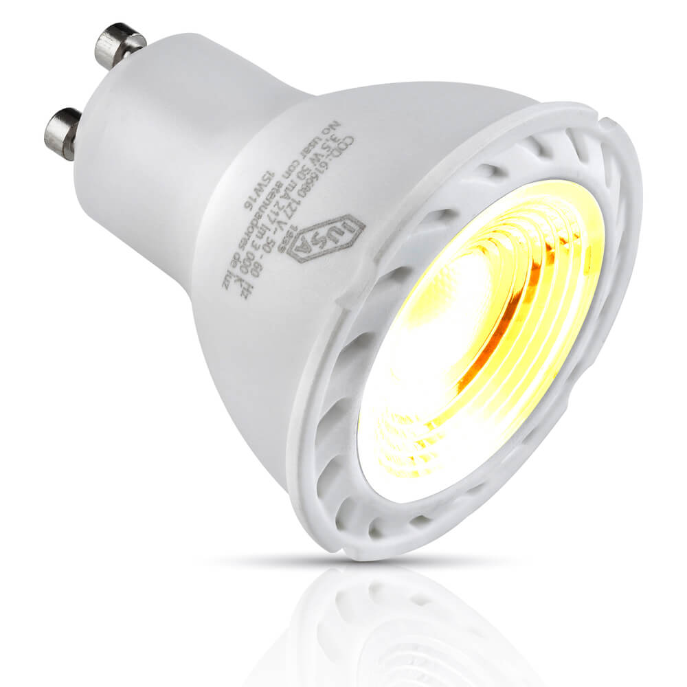 Foco LED MR16 con base GU10