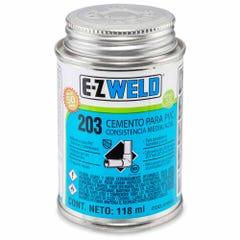 Cemento azul para PVC C-40 y C-80, modelo 203