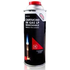 Cartucho de gas butano con válvula roscada