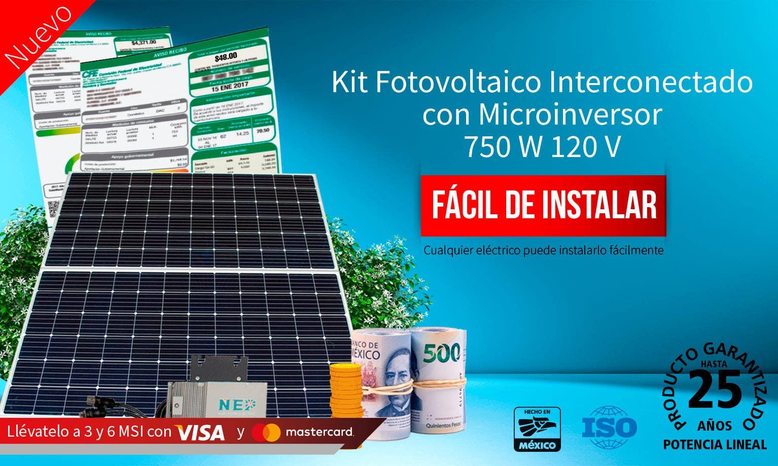 Kit Fotovoltaico con 3 o 6 MSI